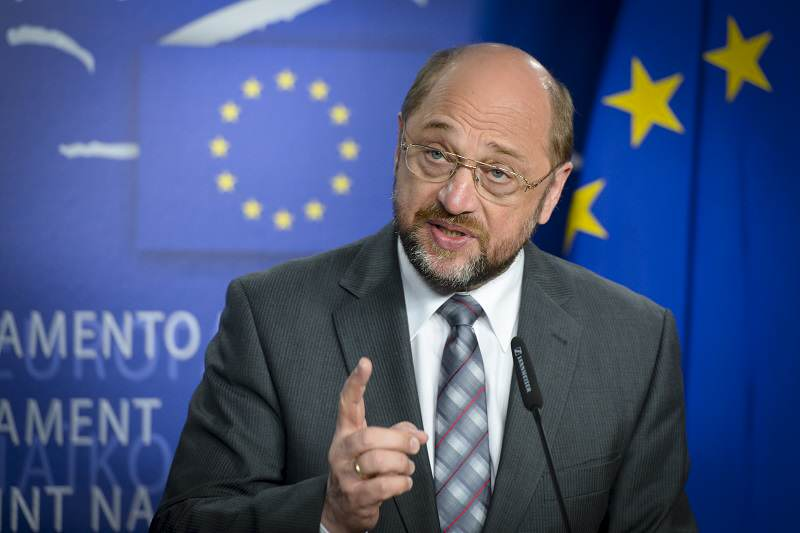Martin SCHULZ EP President, press point on Cyprus