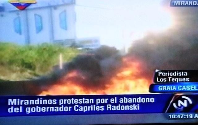 Protesta de Chavistas en Miranda