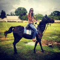 Indira y su lujoso caballo