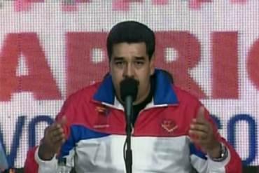 """Maduro asegura que la """"oligarquía mundial está inventando que él está loco"""" + CUCU + VIDEO"""