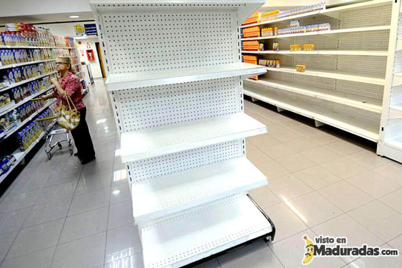 Anaqueles Vacios Comercios Vacios Sin Mercancia Venezuela Desabastecimiento Escasez