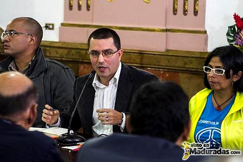 Jorge Arreaza con Delcy Rodriguez