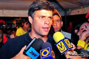 """Leopoldo López: """"Uno no puede enfrentarse al gobierno y luego buscar su reconocimiento"""""""