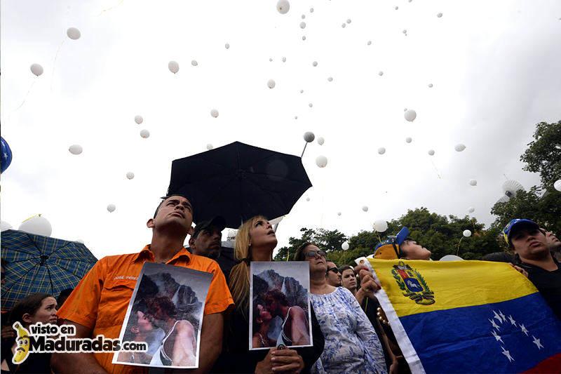 Protesta por asesinato de Monica Spear