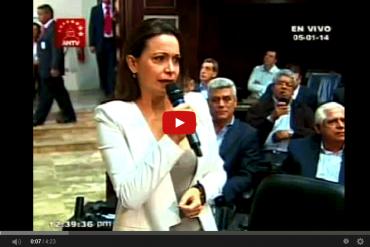 Así fue como interrumpieron el discurso de María Corina Machado en la AN + VIDEO
