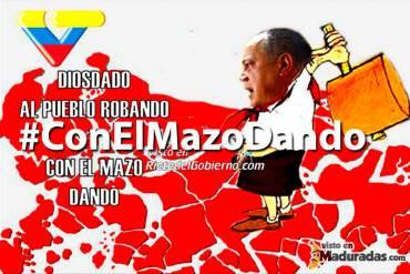 Estas fueron algunas reacciones al estreno del programa #ConElMazoDando de Diosdado + ¡JAJAJA!