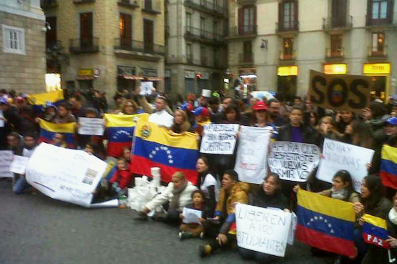 venezolanos en el mundo protesta