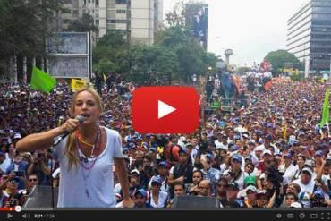 ¡MUJER CON GUÁRAMO! Lilian Tintori: Leopoldo está preso porque vivimos en dictadura