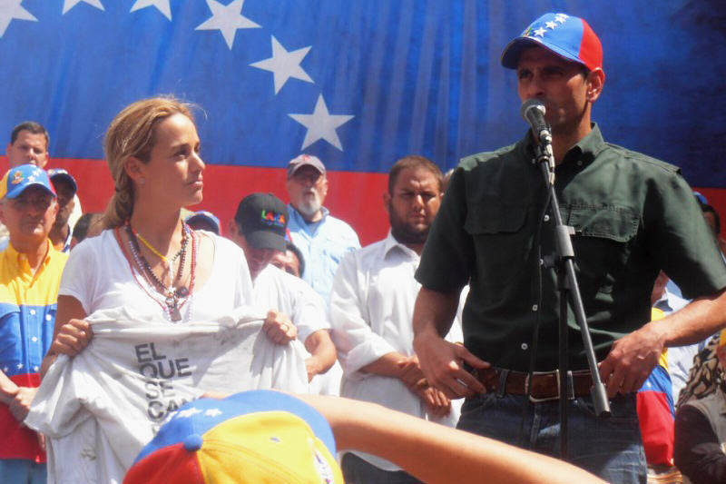 Lilian Tintori con Henrique Capriles Radonski