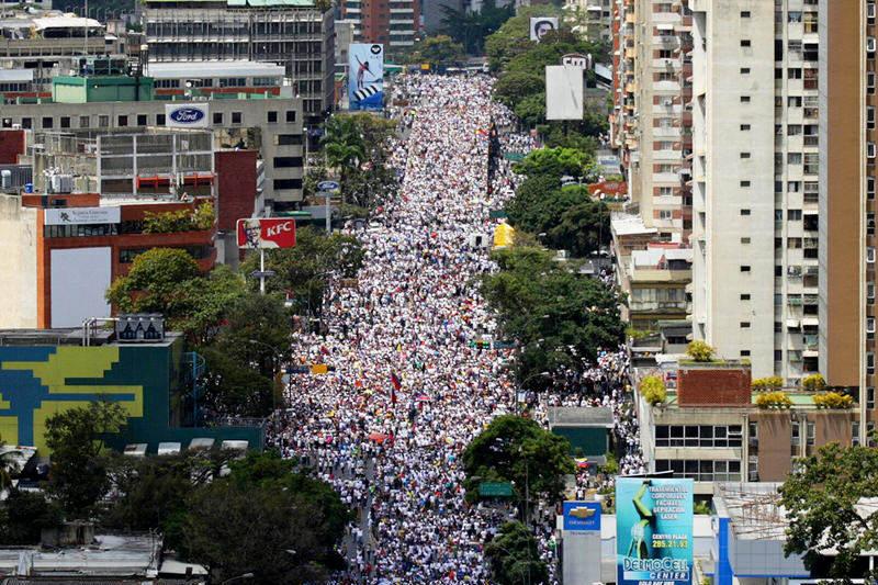 Marchas en Venezuela hacia El Marques en Caracas 22F
