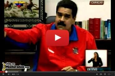 """Maduro se refiere a presos por protestas como """"nazi- fascistas"""" cobardes que no soportan la cárcel"""