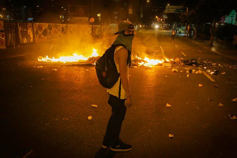 protesta en altamira venezuela gnb estudiantes