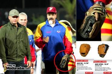 ¡SI CLARO! Maduro gastó su cupo comprando un guante de beisbol de $300 + Fotodetalle