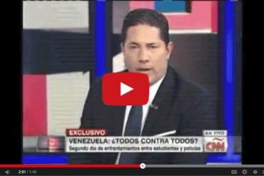 ¡BUENÍSIMO! Así fue el toma y dame entre Fernando del Rincón (CNN) y esta funcionaria chavista