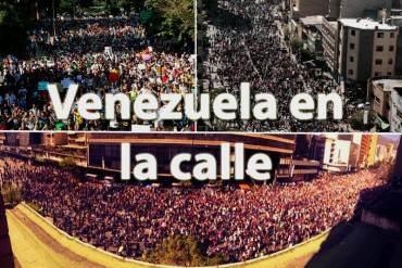 ¡DESCOMUNAL! Así fue la marcha de estudiantes hacia la sede de la OEA + FOTOS + ¡Bravo!