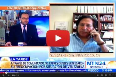 Ex-presidente Peruano: Di instrucciones a parlamentos de mi partido de apoyar a Maria Corina Machado