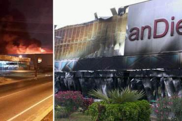 ¡DESTROZADO! Supuestos colectivos habrían quemado el Hiperlíder en San Diego + FOTOS