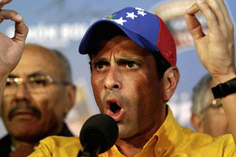 Henrique Capriles Radonski en rueda de prensa