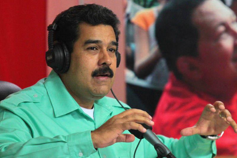 Nicolas Maduro en conferendia radial