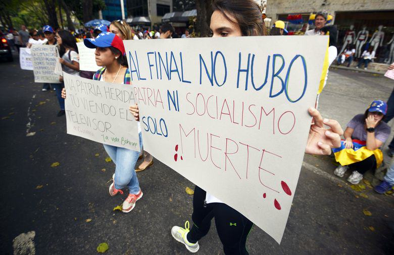Protesta de Estudiantes en Venzuela camino a la OEA (5)