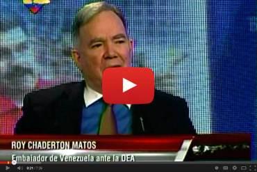 """Chaderton: Hay """"tranquilidad y alivio"""" por decisión de no discutir situación de Venezuela en la OEA"""