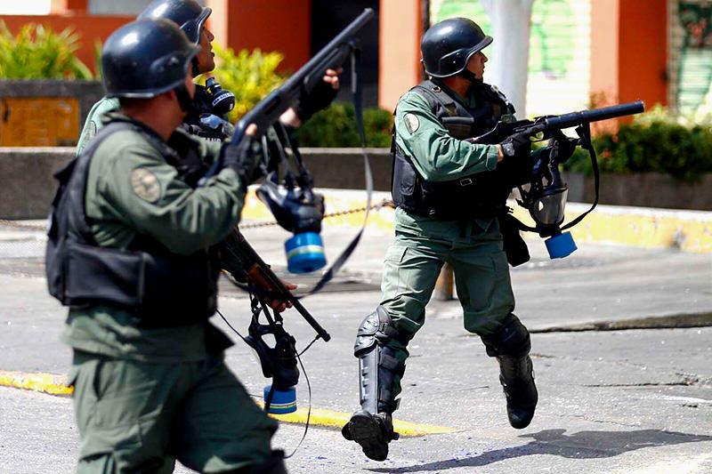 gnb protesta en Venezuel