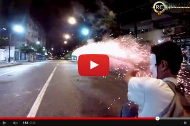 ¡IMPACTANTE VIDEO! Así fue la batalla campal que se vivió en Chacao este #28M