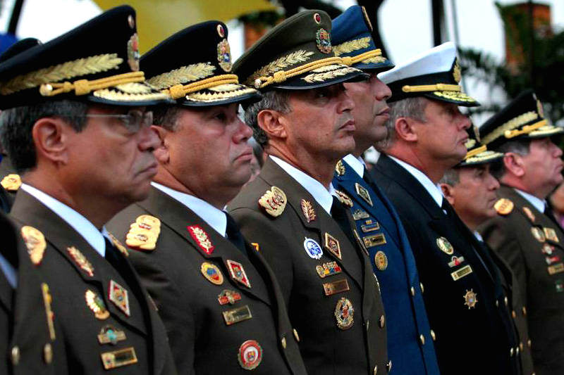 Capitanes y Generales del Ejercito de Venezuela