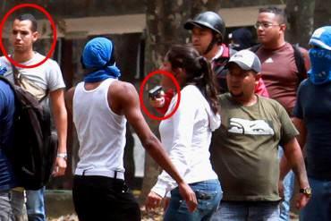 LA FOTO: Identifican al oficialista Kevin Ávila en compañia de grupos armados en la UCV este #3A