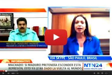 """María Corina Machado: """"Maduro cruzó la línea roja y el mundo ya le dice dictadura a su régimen"""""""