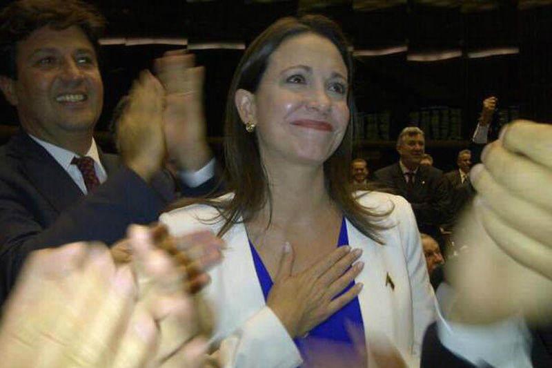 Maria Corina Machado en el Parlamento de Brasil