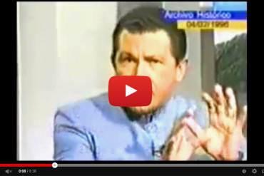 """¡GOBIERNO INMORAL! Así es como Chávez pedía """"Guarimba"""" en contra de Caldera en 1996 (+ Video)"""
