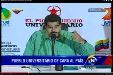 "¡ABSURDO! Maduro ordena que transmitan video donde estudiantes ""queman vivas"" a dos personas"