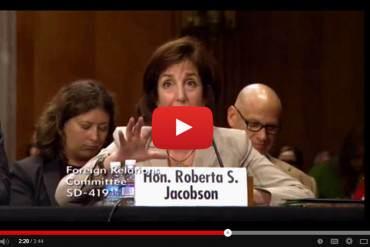 EN VIDEO: Funcionaria de EEUU reafirma que MUD pidió no imponer sanciones