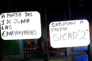 ¡AH BUENO! No solo son los boletos aéreos, las empanadas también se adaptarán a tasa Sicad II (+Foto)