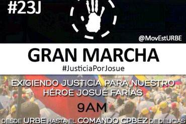 ¡DE LUTO! Estudiantes marchan por asesinato de Josué Farías este #23J (+ Fotos)