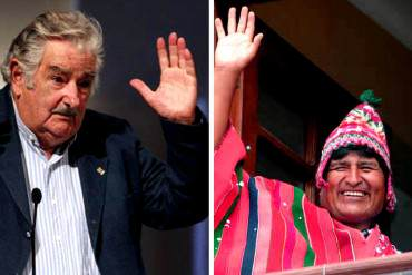 ¡QUIEREN SU TAJADA! Evo Morales y José Mujica vienen a reunirse con Maduro