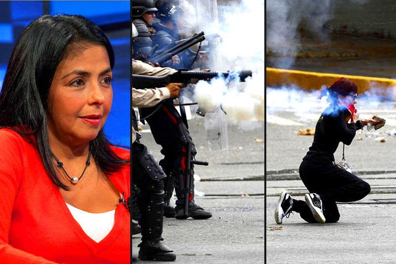 Delcy-Rodriguez-protestas