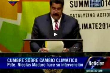 ¡HABLÓ PURAS PEPERAS! Aquí tienes el discurso de Maduro en la ONU (+ Video)
