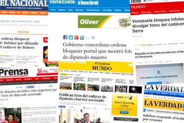 ¡DESNUDAN AL DICTADOR! Medios del mundo reseñan bloqueo del gobierno venezolano a Infobae