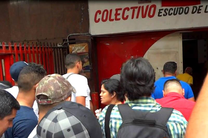 Escena del Crimen de Colectivos Armados en Quinta Crespo contra el CICPC