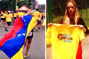 ¡LA LUCHA SIGUE! Lilian Tintori corrió por Caracas con la bandera en honor a Leopoldo López