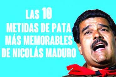 ¡PARA MORIR DE LA RISA! Las 10 metidas de pata más memorables de Nicolás Maduro (+Video)