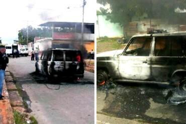 ¡HORROR! Antisociales vuelan patrulla policia con UNA GRANADA en Santa Teresa del Tuy