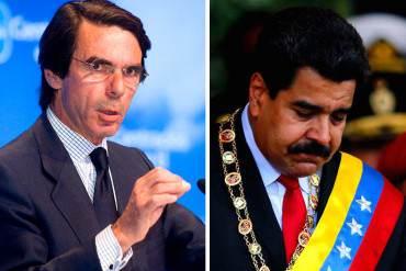 ¡PASA EN DICTADURA! Aznar: Persecución política en Venezuela atenta contra estado de derecho
