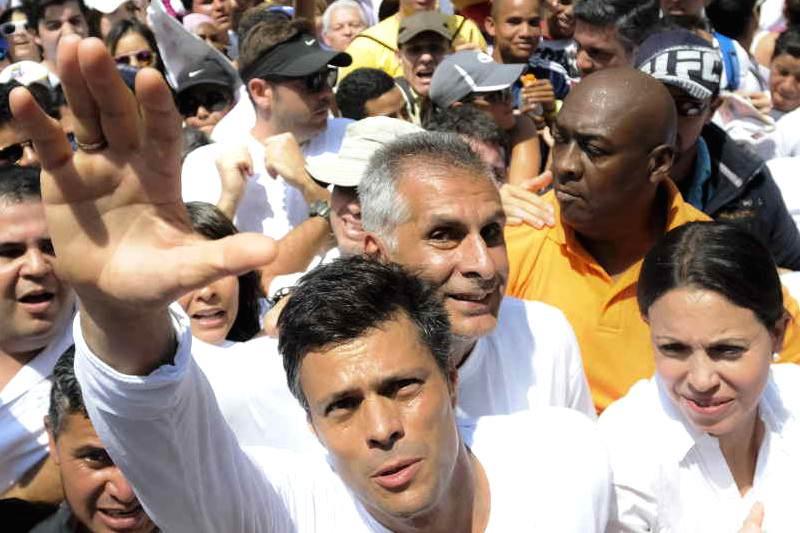 Leopoldo Lopez en su entrega 18F Venezuela DDHH