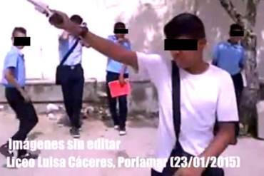 ¡ESCALOFRIANTE! Hijos de la patria nueva: Descomposición social llega a liceos en Venezuela (+Video)