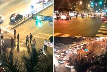Manifestantes cierran la Francisco de Miranda en Altamira y exigen liberar a Ledezma (+Fotos)