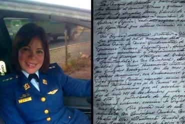 ¡LO ÚLTIMO! Capitana Laided Salazar envía CONTUNDENTE carta al régimen desde Ramo Verde