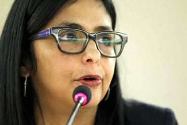 """¡EL CINISMO EN PASTA! Delcy dice que """"se le ha respetado el debido proceso"""" a Leopoldo López"""